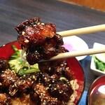 脇田屋 - プニプニの食感。あぁ美味いっす!こりゃご飯が進みます。