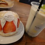 men  - いちごのマリトッツォとレモンミルク♡春らしい爽やかセットです!