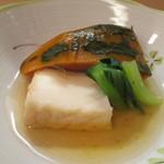 日本料理 松下 - 南瓜の炊き合わせ
