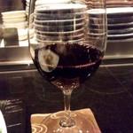 鉄板焼おおみ - 赤ワイン.JPG