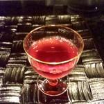 鉄板焼おおみ - 葡萄酒を使った食前酒JPG.jpg