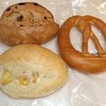 essen - 料理写真:パン3種