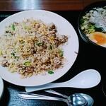 海の宴 - 焼豚チャーハンセット(900円)