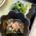 大福食堂 - 茄子おひたし、漬物