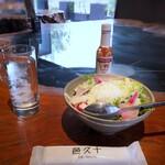 立呑 邑久十 - ◆玄米タコライス(550円税込)・・タコライスが何なのかよくわからずに頂きました。(^0^;)