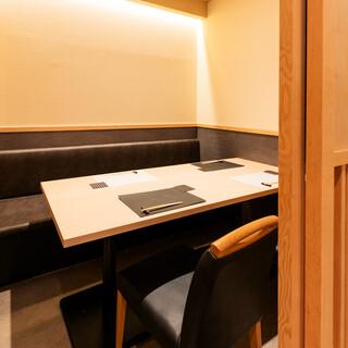 《個室席多数》ぬくもりを感じる、洗練された個室席で