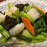 慶福楼 市場通り店 - イカと野菜の炒め物@ランチ