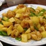 慶福楼 市場通り店 - 鶏肉と野菜の炒め物@ランチ