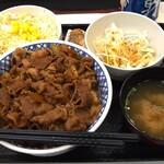 吉野家 - ねぎ山椒牛丼(超特盛)Aセット