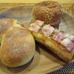 147408128 - シューワルート、ねぎみそのタルティーヌ、半熟たまごのカレーパン