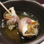 寿司 う月 - お通し  磯ツブ貝