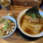 麺や食堂 - 料理写真:中華そば 味玉 とりマヨ丼セット