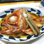 147416040 - 金目鯛かぶと煮(¥1188)。味付けは濃すぎず、あっさりとしているから食べ飽きない
