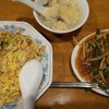 Semmikan - 料理写真:夜の鮮味館。炒飯、青椒肉絲・小。
