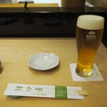 菊水鮓 - 生ビール