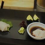 菊水鮓 - カワハギ 肝醤油