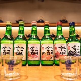 こだわりのドリンクが充実!韓国家庭料理の定番とご一緒に♪