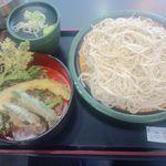 ゆで太郎 - ●野菜天もりそば ¥450