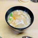 橋政 - 定食のぶた汁