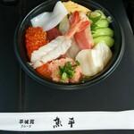 さかなや魚平 - 市場の海鮮丼(1280円)