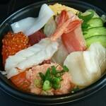 さかなや魚平 - 海鮮丼アップ