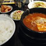 百済カルビ - 純豆腐チゲランチ 500円