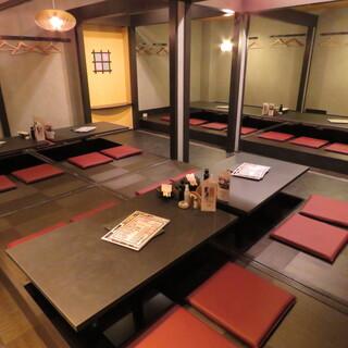 各種宴会に最適な最大36名様迄のお座敷個室をご用意。