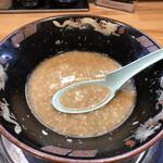 関西 風来軒 - 麺と具材を、食べ切ったところで