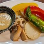 福一 - 焼き野菜サラダ(850円)