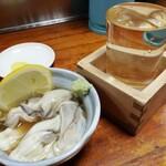大番 - 料理写真:牡蠣酢(400円)、粋人(290円)