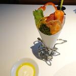 147491311 - 野菜クリスプのブーケと豆乳サワークリーム
