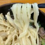 うどんの釜屋 - 平打ち麺