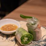 ロータスパレス - 2021.3 海老と豚肉の生春巻き