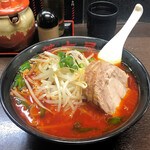 旨辛タンメン 荒木屋 - 料理写真:台湾2号(麺半分)1,000円、チャーシュー100円