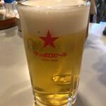 鳥松 - 生ビール(黒ラベル)