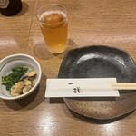 一磋 - 前菜(あさりと菜の花のお浸し)