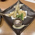 一磋 - タコとサヨリ梅しそ天ぷら