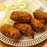 洋食 GOTOO - 料理写真:2021.3 岩手県広田湾産 日本一のカキ カキフライセット(1,650円)