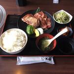 焼肉ホルモン 王道 - 王道ステーキ定食 ¥1580