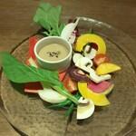 Furenchishokudoubudou - バーニャカウダ風サラダ