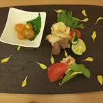147549738 - 比内地鶏豪華前菜6種