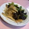 太原 - 料理写真:前菜(突出し)として出てくるザーサイなど漬物3種盛合せが美味しい。