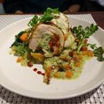 147552220 - 錦爽鶏と山菜のパロティーヌ