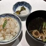 日本料理・鉄板焼 はや瀬 - ちりめん山椒御飯