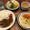 ステーキ&ハンバーグの店 いわたき - 料理写真:'21/03/13 サラダ・ライス・カレー・玉子スープ