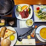 Bonheur - 料理写真:国産牛の鉄板焼きステーキ御膳