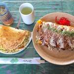 和楽路 - 料理写真:お好み焼270円&オムそば(大)390円