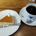 乙コーヒー - 【2021/3】チーズケーキ&乙ブレンド