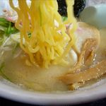 ラーメン茶湖 - ホッキラーメンの麺