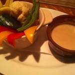 14758523 - 季節の温野菜、バーニャカウダソース \900